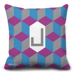 """Pillow Monogram """"Lam"""" - """"L""""  -  """"ل"""""""