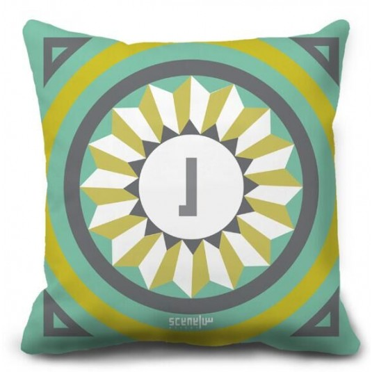 "Pillow Monogram ""Ra"" - ""R""  -  ""ر"""
