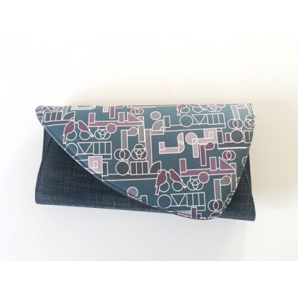 Blue and faded dark grey Clutch Hobb & Co.