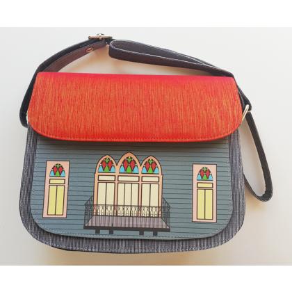 Traditional Lebanese House Crossbody Bag