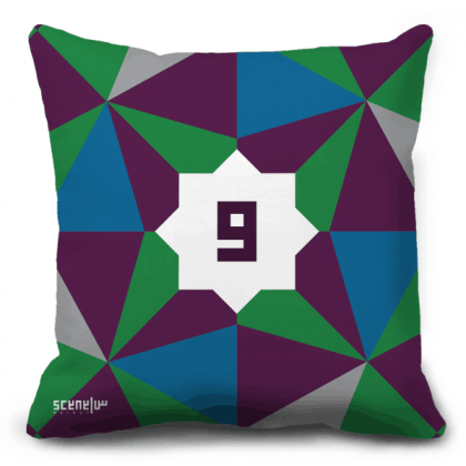 "Pillow Monogram ""waw""- ""w""- ""ou"" - ""و"""
