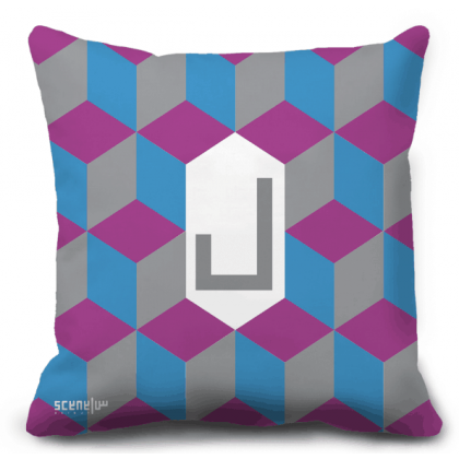 "Pillow Monogram ""Lam"" - ""L""  -  ""ل"""