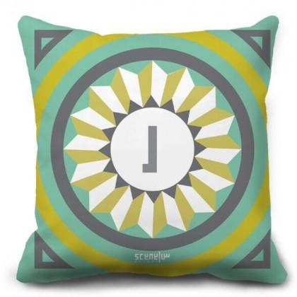 "Pillow Monogram ""Ra"" - ""R""  -  ""ر"""