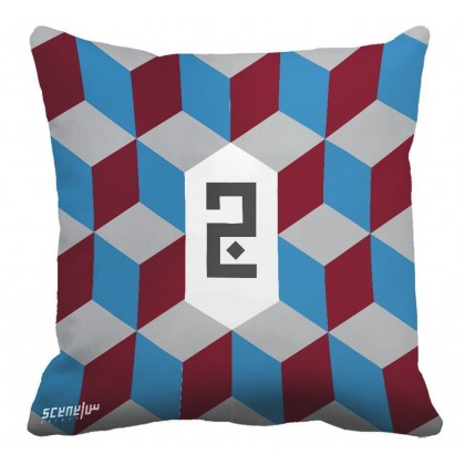 "Pillow Monogram ""Ja"" - ""G""- ""J"" - ""ج"""