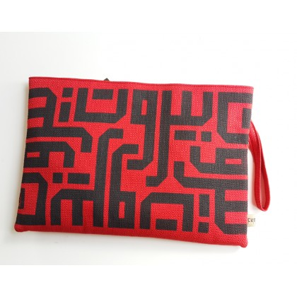 Beirut Calligraphy Clutch - Red