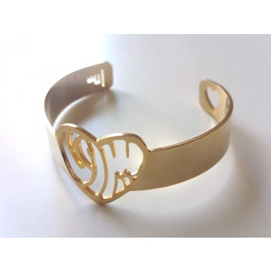 Heart of Beirut Gold Plated Bracelet