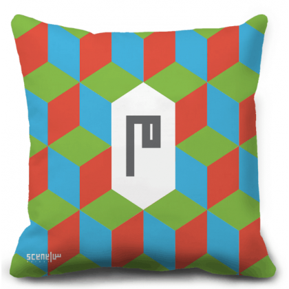 "Pillow Monogram ""Mim"" - ""M""  -  ""م"""