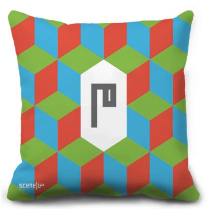 "Pillow Monogram ""Mim"" - ""M""  -  ""م"""